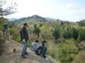 4月隊キャンプ ネイチャーランドの山