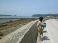 5月団キャンプ 海沿いを歩く