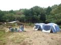 10月キャンプ 雨が降らぬうちに設営