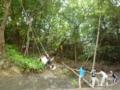 8月隊キャンプ 手作りブランコの遊び方