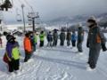 団スキー2015 木島平スキー場で開会式