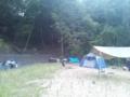 7月隊キャンプ 設営中