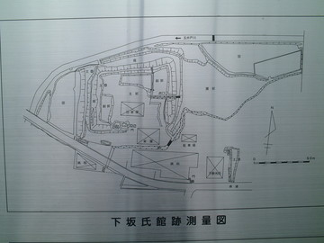 下坂氏館跡測量図