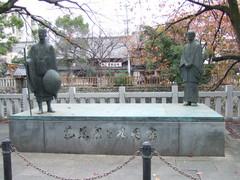 松尾芭蕉と谷木因像