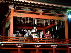 二荒山神社神楽殿でのライブ