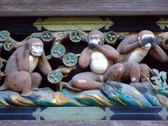 日光東照宮神厩の三猿
