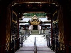 大猷院霊廟夜叉門から覗く社殿