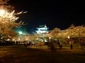 [夜景][城郭][桜]弘前城二の丸夜桜