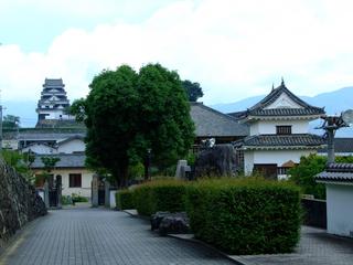 大洲城三の丸南隅櫓と天守