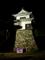 大洲城天守苧綿櫓(ライトアップ)