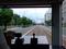 伊予鉄道市内電車前方車窓