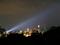 高知城天守を照らすサーチライト