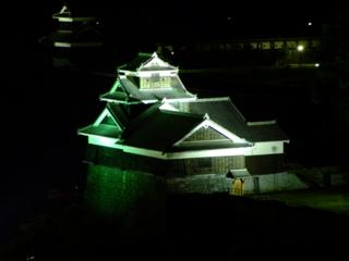 熊本城飯田丸五階櫓ライトアップ