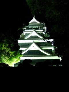 熊本城天守ライトアップ