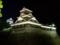 熊本城宇土櫓ライトアップ