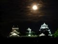 [夜景][城郭]月夜の熊本城