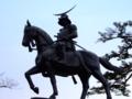 [銅像]青葉城の伊達政宗騎馬像