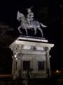 [夜景][銅像]青葉城の伊達政宗騎馬像
