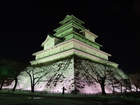 会津若松城天守ライトアップ