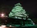 [夜景][城郭]会津若松城天守ライトアップ