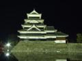 [夜景][城郭]松本城天守群ライトアップ