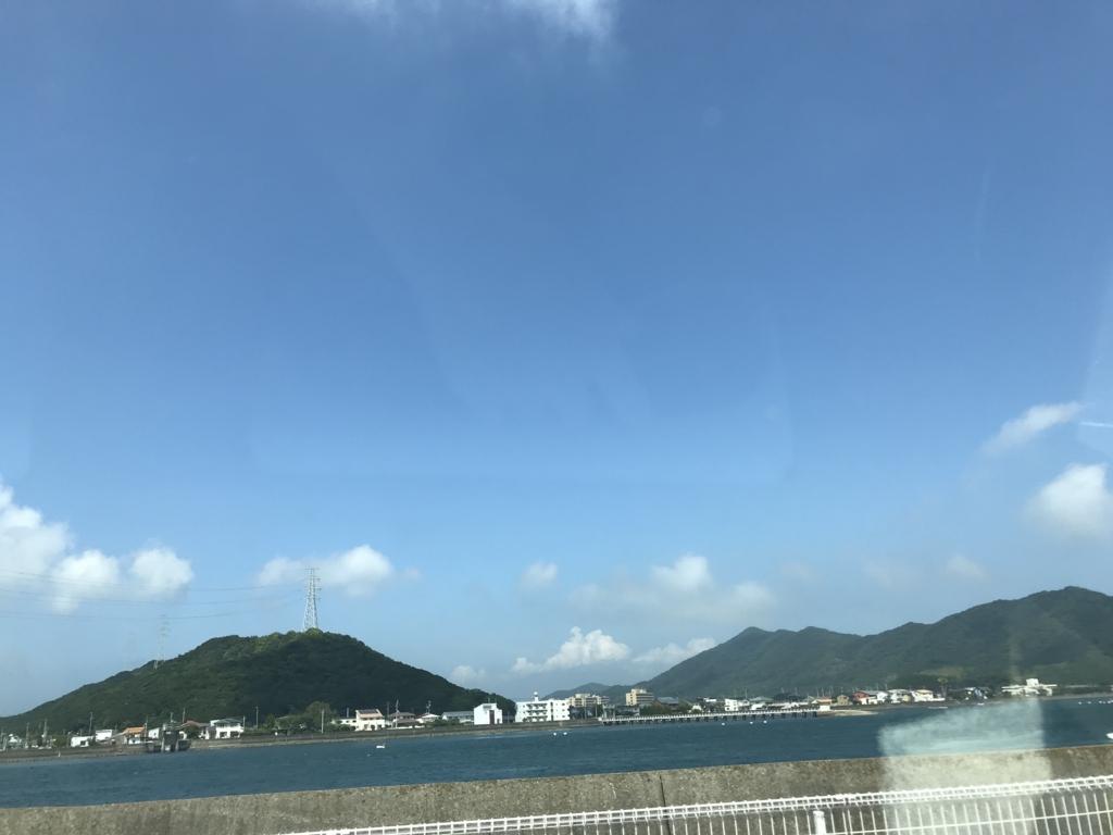 真夏日の青い風景
