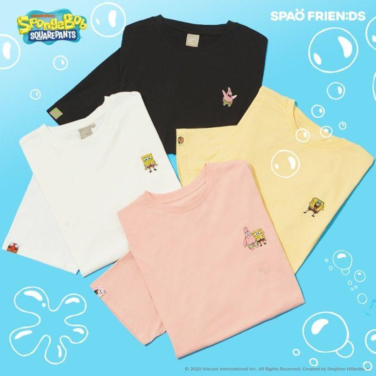 韓国 SPAO  コラボTシャツ スポンジボブ