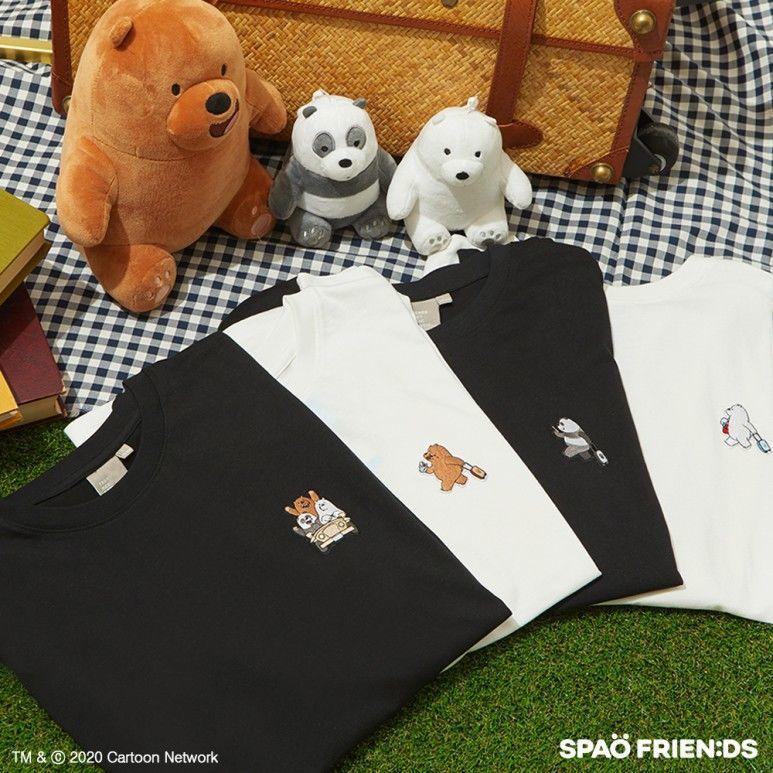 韓国 SPAO  コラボTシャツ ベアベアーズ