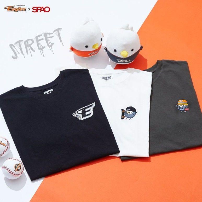 韓国 SPAO  コラボTシャツ ハンファイーグルス