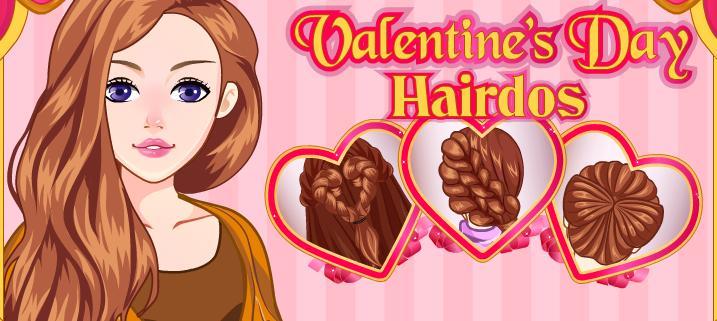 Valentine's Day Hairdos Girl Game