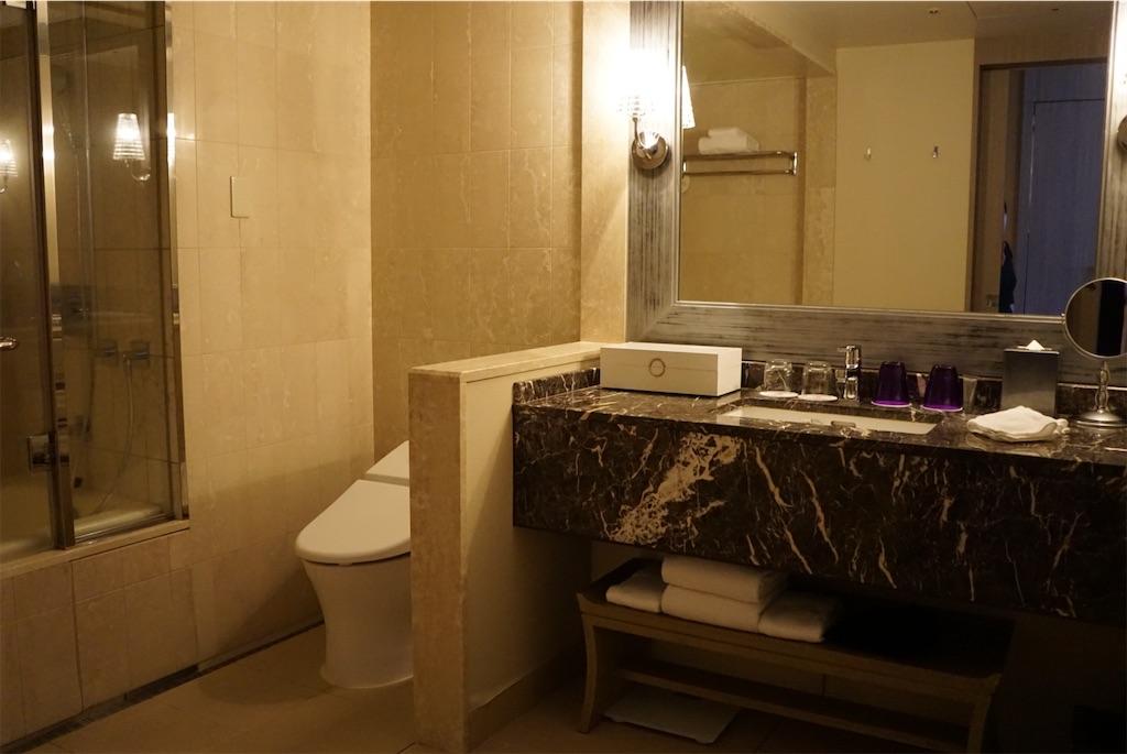 東京マリオットホテル_デラックスツイン洗面台