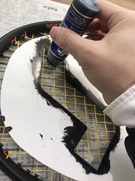 ステンシルを塗る