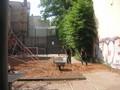 落ち葉が公園の土として再利用されています