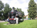 Murska Sobotaの駅前にあった機関車