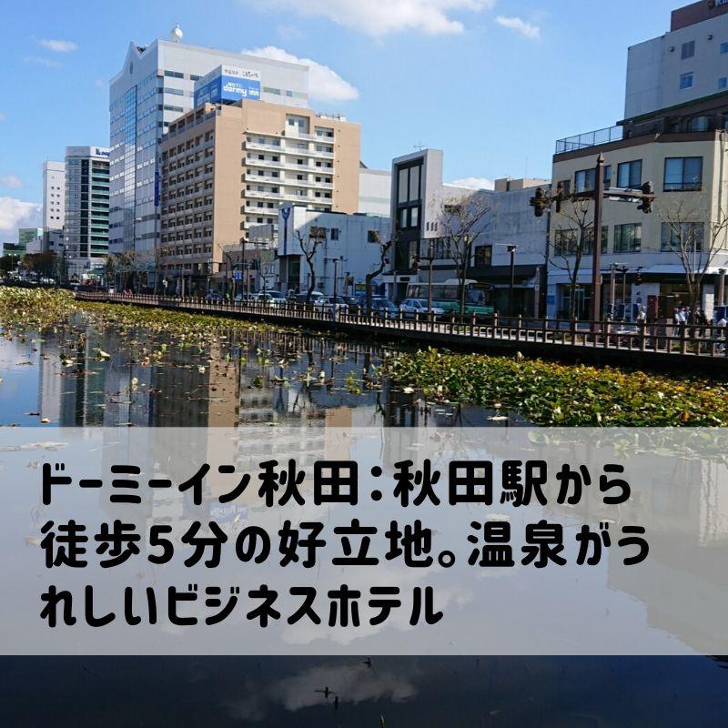 ドーミーイン秋田の遠影