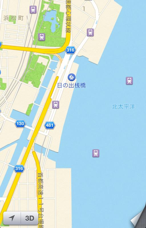 iPhone 5 マップ キャプチャ画像