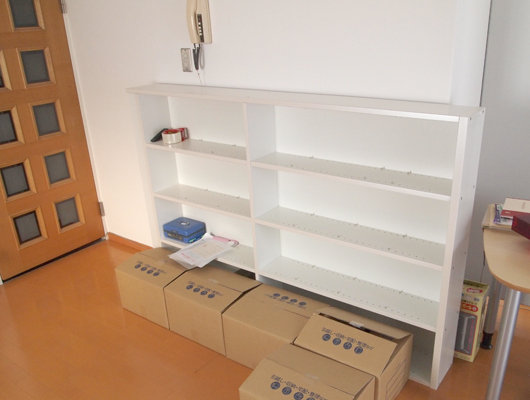 本棚は撤去して書籍は電子化へ