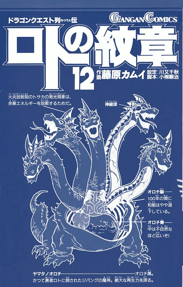 エニックス GC ドラゴンクエスト列伝 ロトの紋章 12巻 カバー裏 表紙