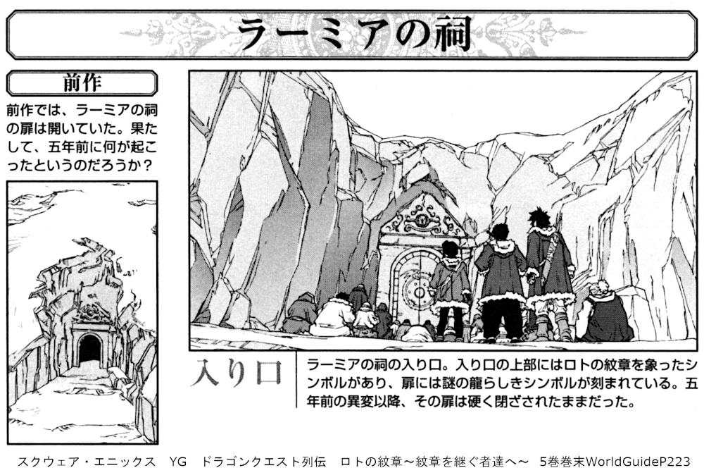 スクウェア・エニックス YG ドラゴンクエスト列伝 ロトの紋章~紋章を継ぐ者達へ~  5巻巻末WorldGuideP223