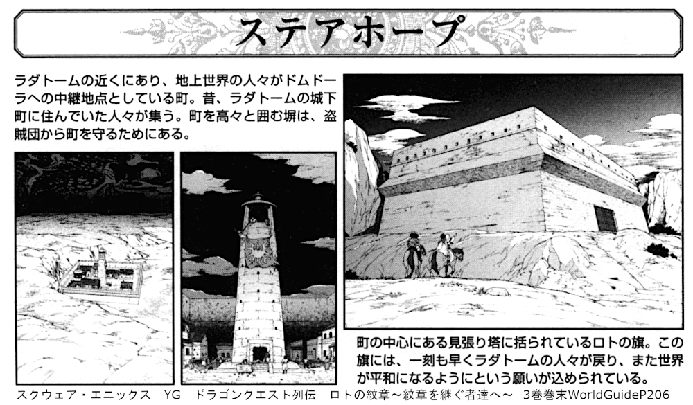 スクウェア・エニックス YG ドラゴンクエスト列伝 ロトの紋章~紋章を継ぐ者達へ~  3巻巻末WorldGuideP206