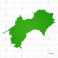 四国の地図