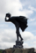 種山ヶ原県民の森キャンプ場・風の叉三郎像(江刺市)-12.08-