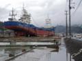 気仙沼市・打ち上げられた船-13.05-