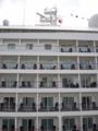 晴海埠頭の豪華客船「シルバー・シャドー」の客室外観-13.10-
