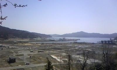 城山からの展望(大槌町)-14.04-