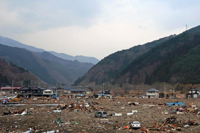 津波被災1か月後の釜石-1-14.09