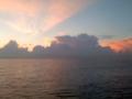 太平洋上の朝焼け-1-14.09