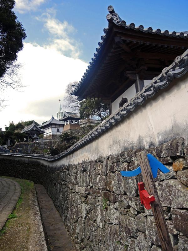 寺院と教会の見える風景(長崎)-1-15.03