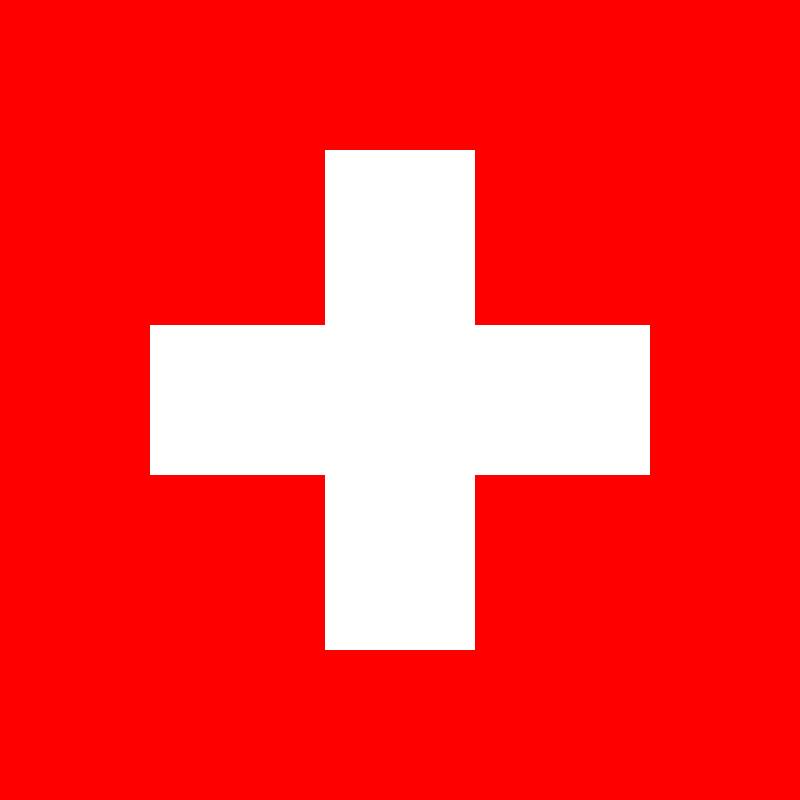 スイス国旗(ウィキペディア)