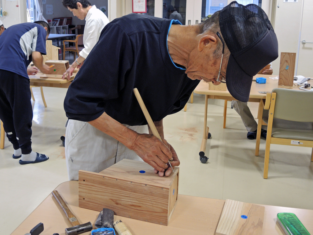 巣箱づくり・和野っこハウス(大槌町)-3-15.08